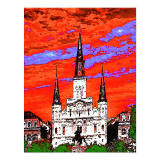 Cathedral New Orleans Fauvist Colors Custom Announcement