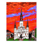 Cathedral, New Orleans, Fauvist Colors Custom Announcement