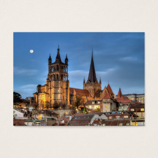 Cathedral Notre Dame of Lausanne, Switzerland, HDR Business Card