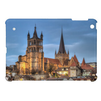 Cathedral Notre Dame of Lausanne, Switzerland, HDR iPad Mini Cover