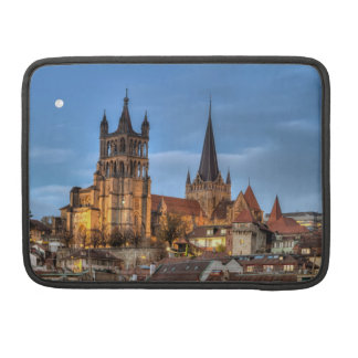 Cathedral Notre Dame of Lausanne, Switzerland, HDR Sleeve For MacBook Pro