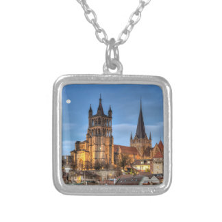 Cathedral Notre Dame of Lausanne, Switzerland, HDR Square Pendant Necklace