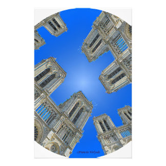 Cathedral notre dame stationery
