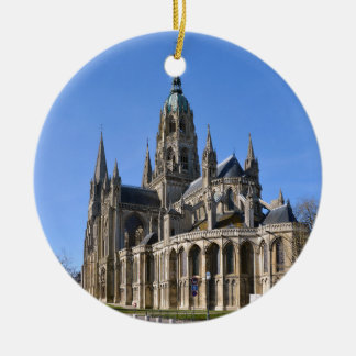 Cathedral of Bayeux in France Ceramic Ornament