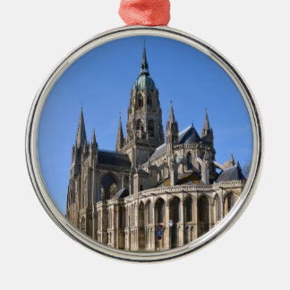Cathedral of Bayeux in France Metal Ornament