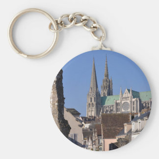 Cathedral of Chartres in France Keychain