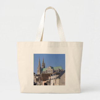 Cathedral of Chartres in France Large Tote Bag