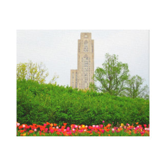 Cathedral of Leaning Canvas Print
