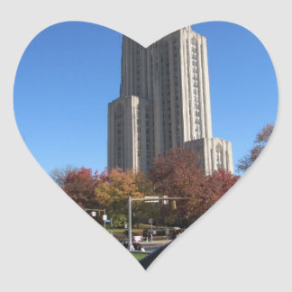 Cathedral of Learning University of Pittsburgh Heart Sticker