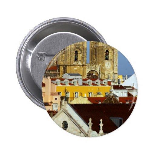 Cathedral of Lisbon, Lisbon, Portugal Pin Redondo 5 Cm