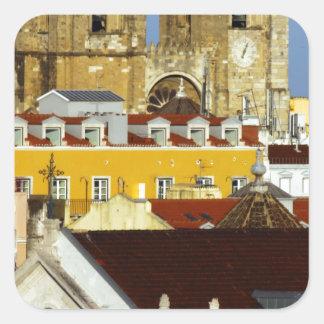 Cathedral of Lisbon Lisbon Portugal Square Sticker