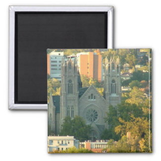 Cathedral of Madeleine 2 Inch Square Magnet