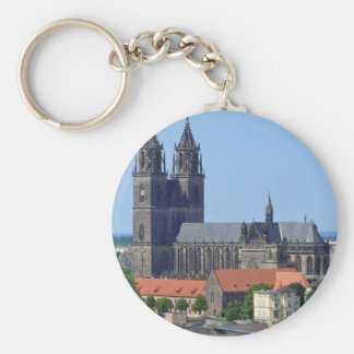 Cathedral of Magdeburg, in Germany Keychain