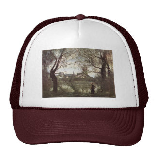 Cathedral Of Mantes By Corot Jean-Baptiste-Camille Trucker Hat