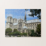 "Cathedral of Notre Dame in Paris Jigsaw Puzzle<br><div class=""desc"">The sun shines on the Cathedral of Notre Dame during a beautiful summer day in Paris.</div>"