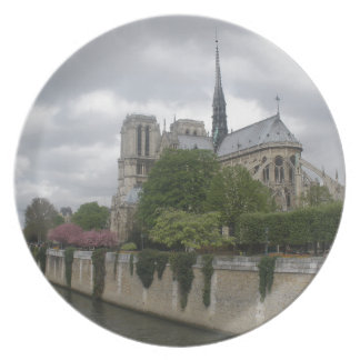 Cathedral of Notre Dame Paris France Dinner Plate