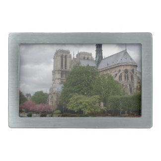 Cathedral of Notre Dame Paris France Rectangular Belt Buckle
