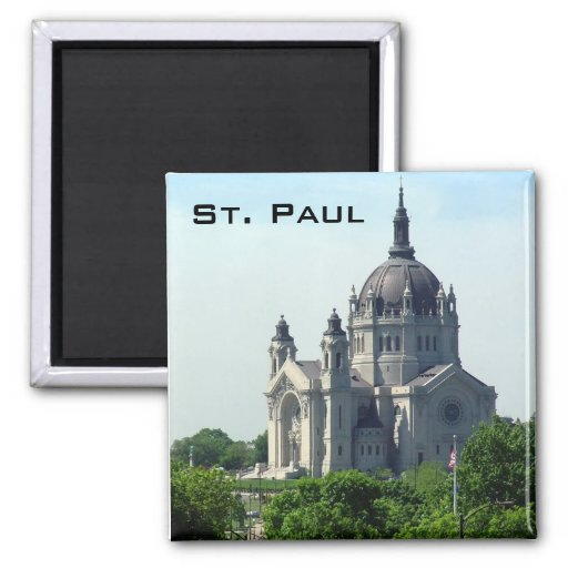 Cathedral of Saint Paul 2 Inch Square Magnet