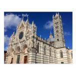 Cathedral of Santa Maria Assunta, Sienna, Italy Postcard