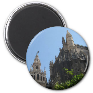 Cathedral of Seville 2 Inch Round Magnet