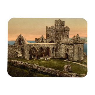 Cathedral of St Germain, Peel, Isle of Man Rectangle Magnet