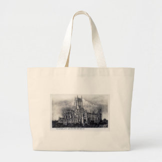 Cathedral of St John the Divine NYC Vintage Tote Bag