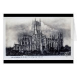 Cathedral of St. John the Divine, NYC Vintage Greeting Card