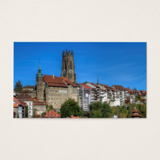 Cathedral of St. Nicholas in Fribourg, Switzerland Business Card