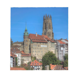 Cathedral of St. Nicholas in Fribourg, Switzerland Notepad