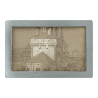 Cathedral of the Annunciation in Nizhny Novgorod b Rectangular Belt Buckle