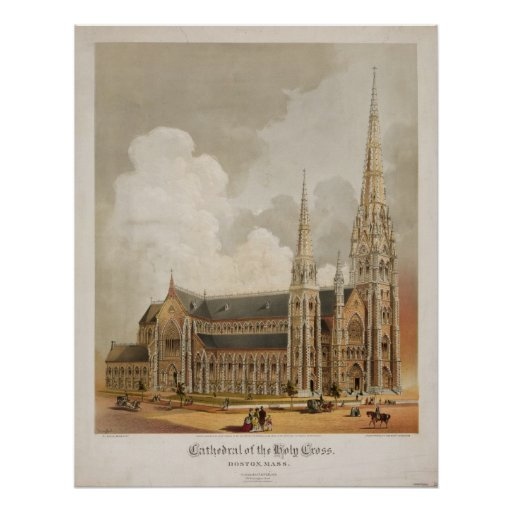 Cathedral of the Holy Cross Boston Massachusetts Poster
