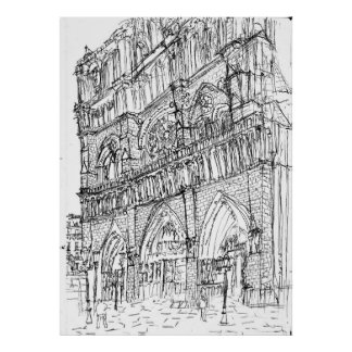 cathedral our lady of Paris by KOTE 2013 Poster