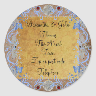 Cathedral Photoframe Classic Round Sticker