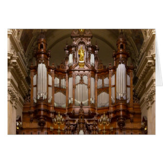 Cathedral  pipe organ, Berlin Greeting Card