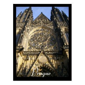 cathedral prague postcard