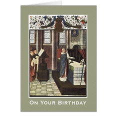 Cathedral Priest Altar Birthday Celebration Card at Zazzle
