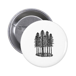 Cathedral Ring (Coastal Redwoods Sketch) Button