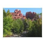 Cathedral Rock and Stream in Sedona Arizona Canvas Print