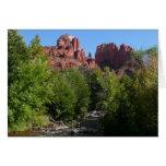 Cathedral Rock and Stream in Sedona Arizona Card