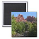 Cathedral Rock and Stream in Sedona Arizona Magnet