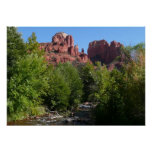 Cathedral Rock and Stream in Sedona Arizona Poster