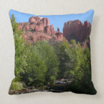 Cathedral Rock and Stream in Sedona Arizona Throw Pillow