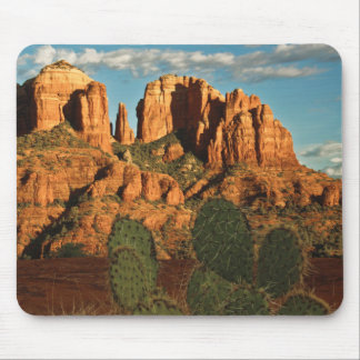 Cathedral Rock at Sunset from Secret Canyon Mouse Pad