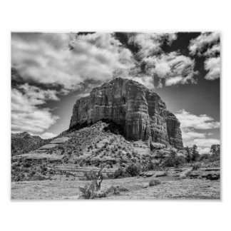 Cathedral Rock - Black & White | Poster