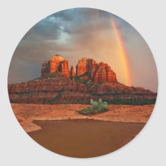 Cathedral Rock Classic Round Sticker