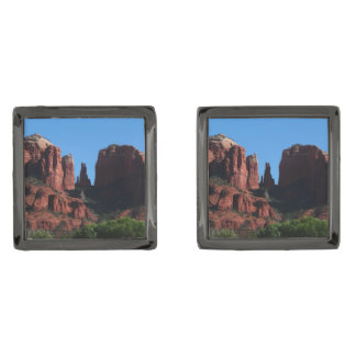 Cathedral Rock in Sedona Arizona Gunmetal Finish Cufflinks