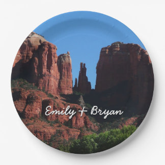 Cathedral Rock in Sedona Arizona Paper Plate