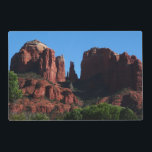 "Cathedral Rock in Sedona Arizona Placemat<br><div class=""desc"">One of the most spectacular sights in Sedona is Cathedral Rock. It&#39;s called Cathedral Rock because the two narrow rocks in the center are said to look like a bride and groom at the altar. Sedona was truly one of the most beautiful places I&#39;ve been for nature photography. This picture...</div>"