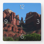 Cathedral Rock in Sedona Arizona Square Wall Clock