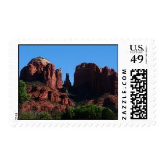 Cathedral Rock in Sedona Arizona Stamp
